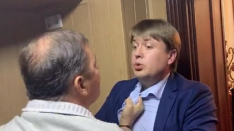 Брачные игры политиков: Ляшко и Герус подрались в аэропорту «Борисполь»