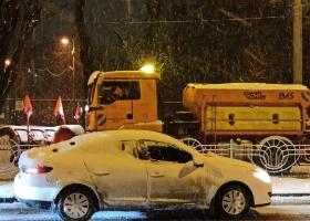 Снегопад в Киеве: полиция зафиксировала на дорогах более 150 аварий