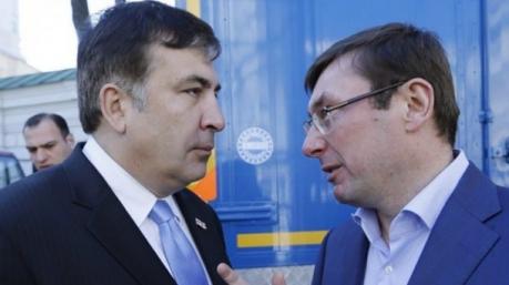 Саакашвили и Луценко под патронатом президента устроили заочный турнир по борьбе с коррупцией