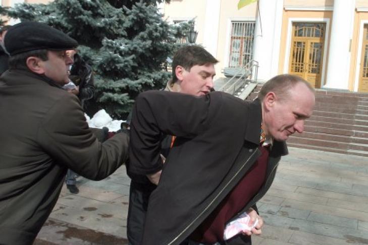 Милиция  задержала четырёх митингующих вКиеве