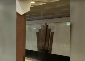 Настоящий водопад: в метро Харькова прорвало трубу водопровода