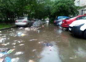 Вчера во Львове наблюдали мусоросплав (ФОТО)