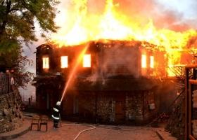 В Одессе сгорел ресторан (ФОТО)