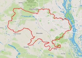 Трое велосипедистов, с помощью Киева, областей и GPS-трекера, сделали Украину
