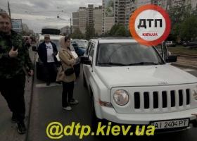 В Киеве из-за разборок водителей пострадал полуторагодовалый ребенок