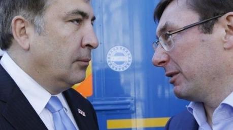 Бокс по переписке: Луценко и Саакашвили ведут заочную дуэль садиста с мазохистом
