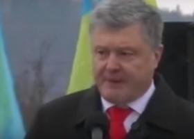 Ошибка президента: Порошенко в Закарпатье запутался в размышлениях о  врагах (видео)