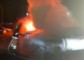 Масштабный пожар в Полтаве - горели шесть машин