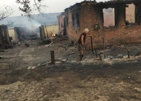 На Донбассе пожар уничтожил целое село