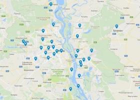 Места угонов автомобилей в Киеве показали на карте